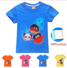 Ryan toys review minecraft girl T Shirts Cartoon Print T-shirt Striped Tee Shirt Cotton For Kids