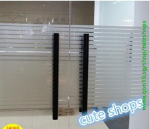 Frosted glass film window stickers striped waist office cut off the balcony sliding door bumper stri