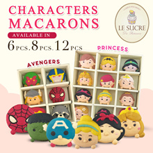 [Le Sucre] AVENGERS PRINCESS and TSUM Characters Macarons! Available in box of 6/8/12pcs!