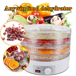 Free Gift BK Adaptor▶Kitchen Electric Countertop Food Dehydrator Food Dryer◀GDA-Food Preserver/ Multi-Tiered Dehydration Shelves/ Easy Single Button Operation and Nutritious Results