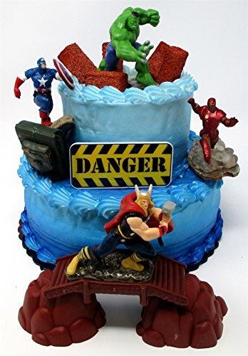 Cool Qoo10 Cake Toppers Avengers Deluxe Super Hero Birthday Cake Funny Birthday Cards Online Elaedamsfinfo