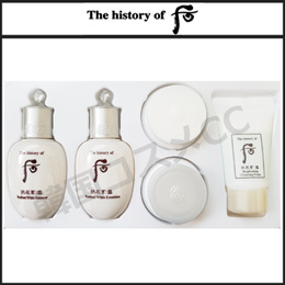 The history of whoo Gongjinhyang:Seol Radiant White 5pcs Kit 拱辰享 雪 Whitening 5種キット /雪 Whitening 水液・乳