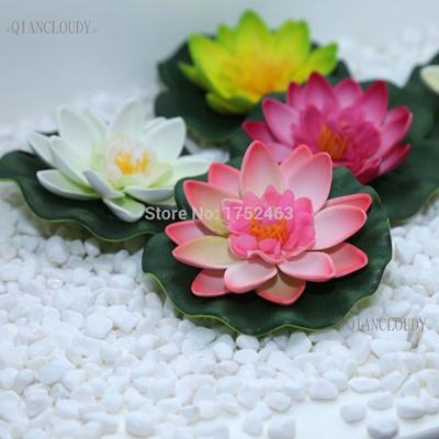 Qoo10 10 Pieces Artificial Fake Lotus Flowers Water Lotus Leaf