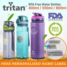 Personalised Water Bottle Tritan BPA Free Water Bottle 400ml 550ml Anti-Spill Ergonomic Design