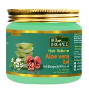 Bio Organic Hair Reborn Aloe Vera Gel With Bhringraj  Walnut Oil For Ultimate Hair 175 Ml