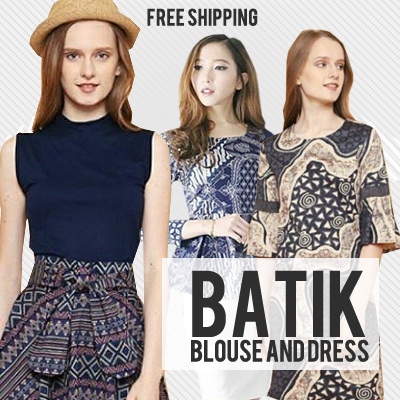 BATIK DRESS BLOUSE CHEONGSAM CULLOTE Deals for only Rp100.000 instead of Rp100.000