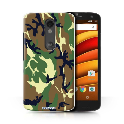 Protective Hard Back Case for Motorola Droid Turbo 2 / Camouflage Army Navy  Collection / Green 4