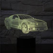 Motor Cars Bus Van Design 3D LED Night Light 16 Colors Changing Lamp Acrylic  Illusion Desk Lamp For