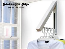 Gantungan Baju Indoor Tempat Gantung Pakaian Praktis dalam Ruangan Kam