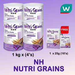 NUTRI GRAINS 1KG X 4S + 25G X 16S [ Buy at RM103 after applied 15% Shop Coupon]