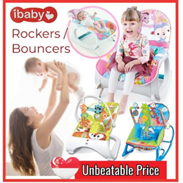 Baby Bouncer / Rocker Bed / Reclinable / Musical Toy Chair / Baby Bed / Cot / Support