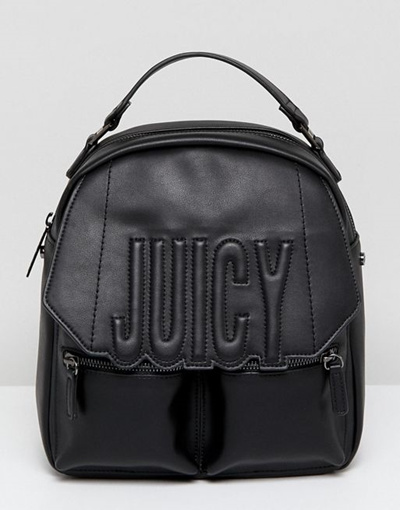 Juicy By Juicy Couture Oversized Logo Adjustable Backpack Crossbody Bag 169b75dc5