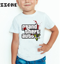 store 2018 Children GTA Street Fight Long With GTA 5 T shirt Kids Summer Fashion Tops Baby Boys/Girl