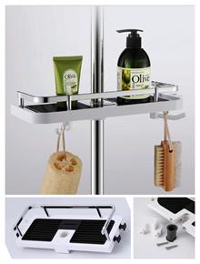 Kitchen bathroom toilet faucet tap shower rack shelf organizer space saver
