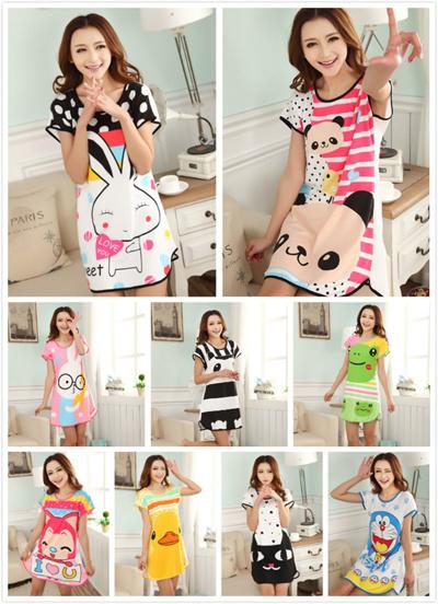 Qoo10 - Promotion Baju Tidur 9 Design Cotton Pajamas Cartoon ... 1b00b47d5e