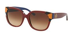 f7f83706c66f Tory Burch TY7096 Sunglasses 159913-55 - Burgundy/Orange/Navy Frame?