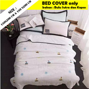 [ Import Product ] Bed Cover Bulu Sutra Cotton / Tanpa sprei hanya bed cover