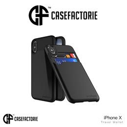 Casefactorie Travel Wallet Card Slot Case iPhone Xs/ X