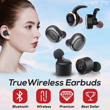 True Wireless Bluetooth Earbuds Earpiece Headset QCY T1 X1T X2T X3T X4T Music Awei Mini Airpods