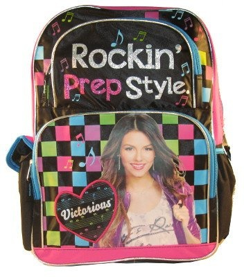 ba5b295295 FAB Full Size Rockin Preppy Style Victorious Backpack - Victoria Justice  Backpack