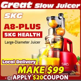 [MAKE $99]SKG A8-Plus Juicer/Blender/Mixer★Ice cream☆Large-Diameter Juicer☆A8Upgrade