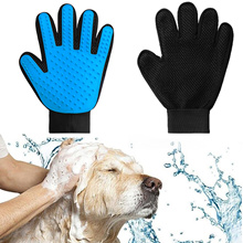 SG Seller True Touch Deshedding Glove Gentle Efficient Pet Grooming Cleaning Dog Hair Brush