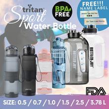 Sport Water Bottle / Tritan BPA Free  / Free Personalised Name Label / 6 Sizes / hot water bottle