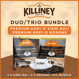 Killiney NEW LAUNCH!! ☕ Premium Kopi-O Siew Dai / ☕ Premium Kopi-O Kosong Duo / Trio Bundle