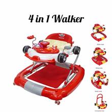 BabyOne 4 in 1 Multi-Function Walker(Red)