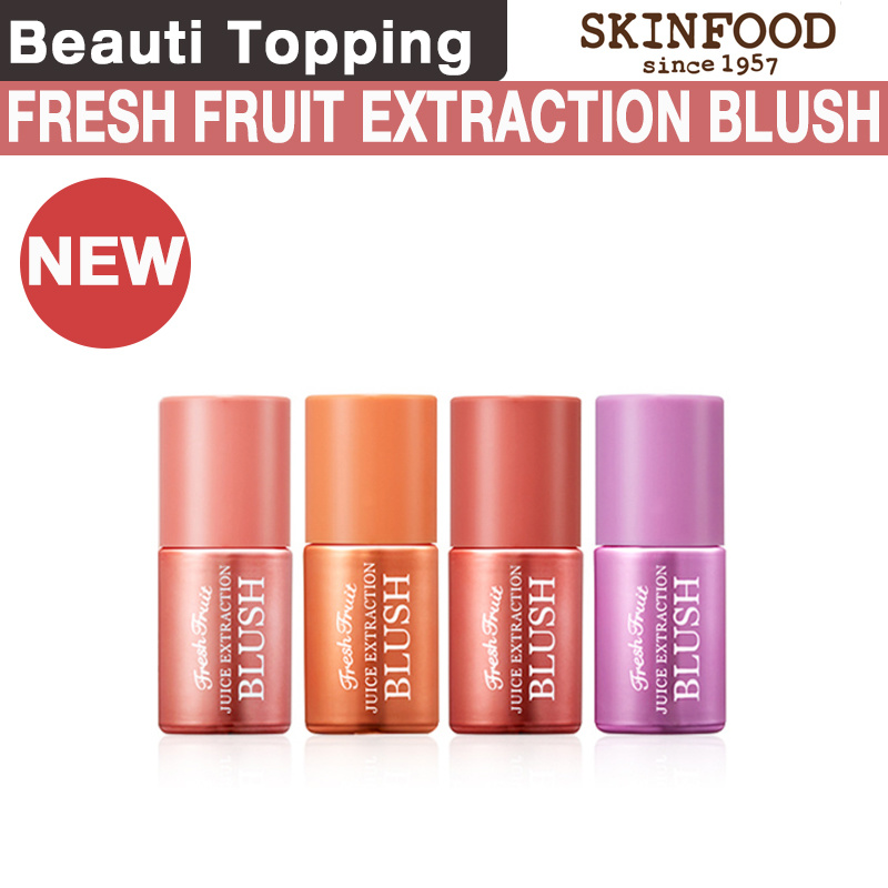 Qoo10 New Skin Food Fresh Fruit Juice Extraction Extraction Blush 4 Colors Cosmetics