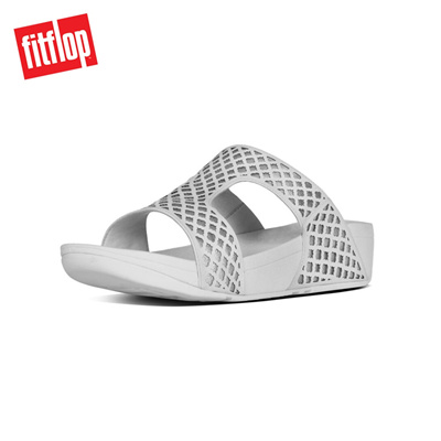 8f1930dd8ce421 Qoo10 - Fitflop™ Safi Slide White Silve   Shoes