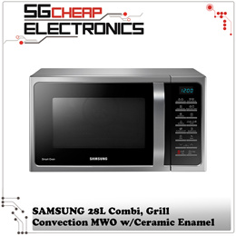 SAMSUNG MC28H5015AS/SP Combi Grill Convection MWO with Ceramic Enamel 28L-Singapore Warranty