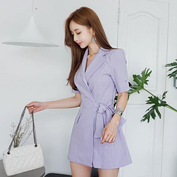 一目惚れしてジャケット、ワンピースnew Hライン/スリムフィットワンピース/ワンピース/韓国ファッション