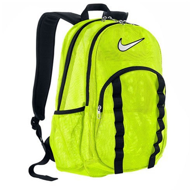 135a74108c Nike Brasilia 7 Backpack Mesh Large Backpack Volt Black (White) One Size