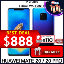 Ready Stocks! Huawei Mate 20 / 6GB + 128GB / 2 years HUAWEI warranty