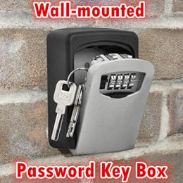 Wall-Mounted Key Storage Box/4 Digit Code password door case outdoor Security logo custom made