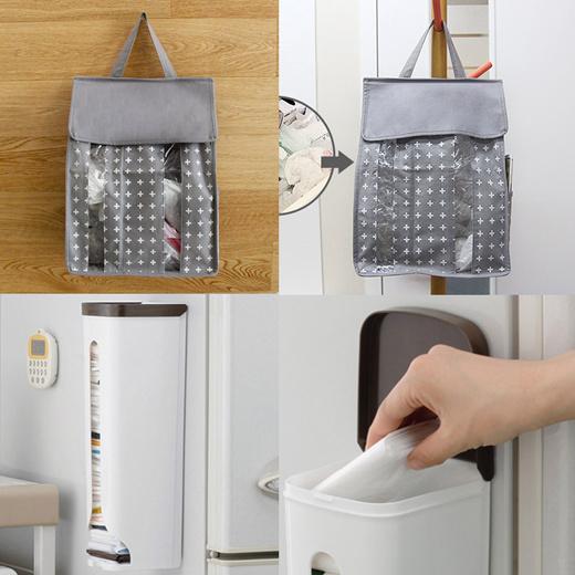 Qoo10 Plastic Bags Holder Kitchen