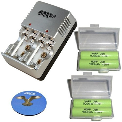 Qoo10 - HQRP KIT: Universal General Use Battery Charger plus