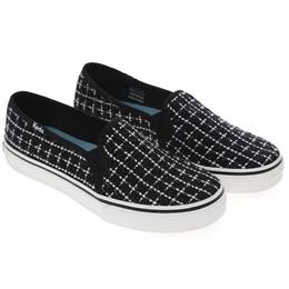 5379d52292522c  Keds  DOUBLE DECKER METALLIC BOUCLE (WF 55717) Black (BK) sneakers