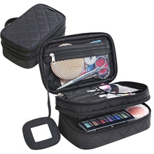 Multifunctional 2 layer Make Up Bag for Women Beauty Makeup Brush Bags with Mirror Travel Kit Organi