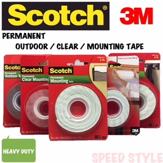 395a992e54e SCOTCH   3M   PERMANENT CLEAR   OUTDOOR   MOUNTING TAPE
