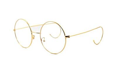 59b6a5493d4 Qoo10 - Agstum Retro Round Optical Rare Wire Rim Glasses Frame 44mm ...
