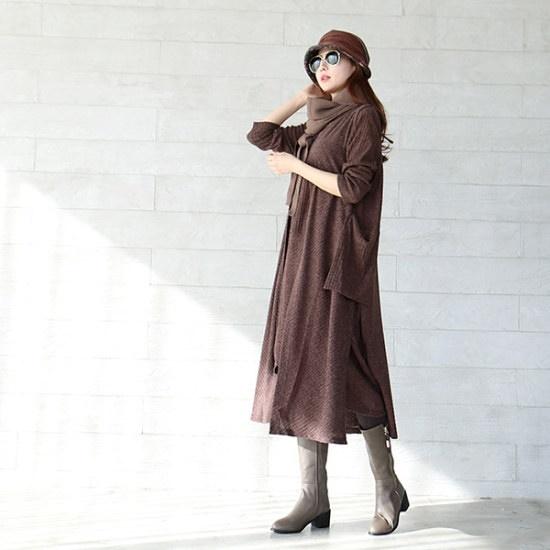 イニク出水フラワーOPSワンピース シフォン/レースのワンピース/ 韓国ファッション