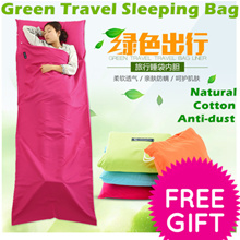 Nature hike Travel Single Double Sleeping Bag Portable Cotton Sleeping Bag/Close Anti-dust/Outdoor