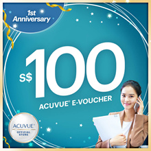 ACUVUE® $100 voucher at $90 only!🔶 $20 EXCLUSIVE EZ LINK CARD 🔶1 per unique buyer