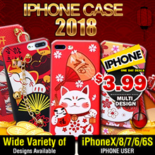 [Little Red]2018 Premium CNY ★Specialist Case★iPhoneX/8/7/6/6S/Lucky Cat //   ONLY $3.99 GRAB NOW !!