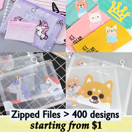 childrens day gifts children day gift Cartoon A5 A4 PVC Zipped Pouch File Pouch STATIONERY