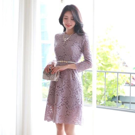 スタイルオンミメリミーレースのワンピース シフォン/レースのワンピース/ 韓国ファッション
