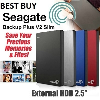 Seagate30 Sets Special Price! Best Price SEAGATE! 2TB/ 1TB / 3TB SeaGate Backup Plus V2 Slim USB 3.0 External HDD.The Slimmest Portable Hard Disk in the Market. 3 Years International Warranty.