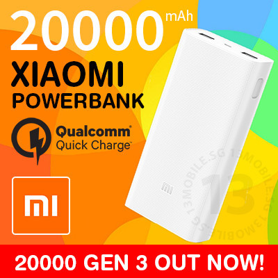 100% Authentic Xiaomi Powerbank Power Bank Slim Wireless 20000 10000 Quick Charge QC3.0 Deals for only S$31.98 instead of S$31.98
